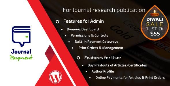 Journal Payment Wordpress Addon Plugin - CodeCanyon Item for Sale