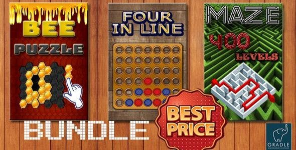 Bundle 3 GAMES - Gradle (Admob + GDPR + Android Studio)