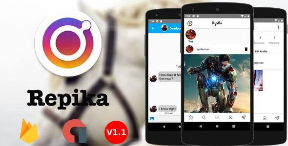 Repika - Android Photo and Video sharing App - CodeCanyon Item for Sale