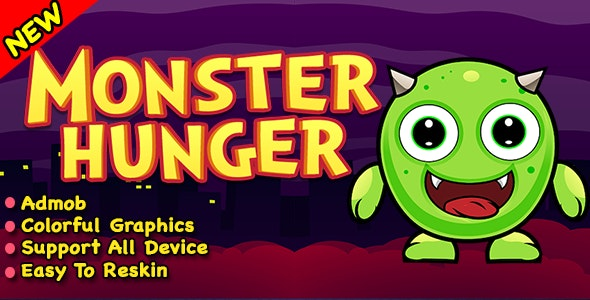 Monster Hunger + Best Halloween Game 2019 + Ready To Published - CodeCanyon Item for Sale