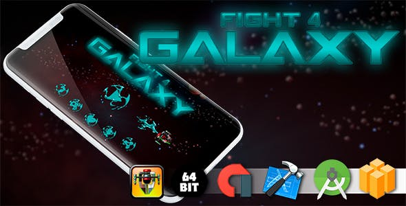 Fight 4 Galaxy Android iOS Buildbox Game Template with AdMob Interstitial Ads