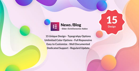 News Post Sliders News Post Grid Builder Addon - Elementor Wordpress