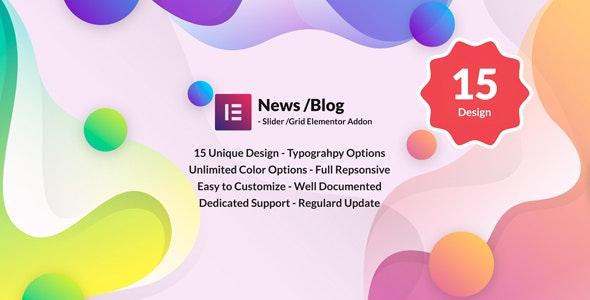 News Post Sliders News Post Grid Builder Addon - Elementor Wordpress - CodeCanyon Item for Sale