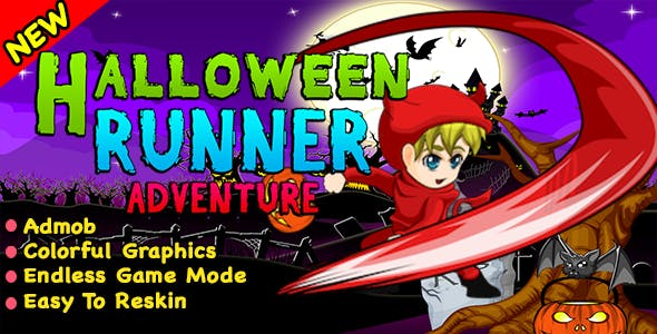 Best Halloween Runner Adventure + Ready For Publish + Android Studio