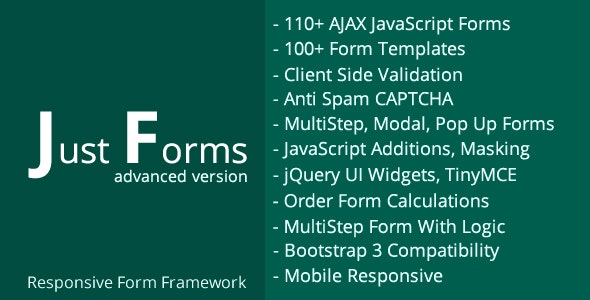 Just Forms Advanced - CodeCanyon Item for Sale