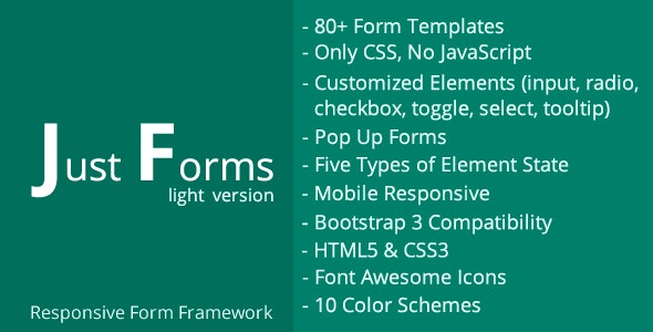 Just Forms Light - CodeCanyon Item for Sale