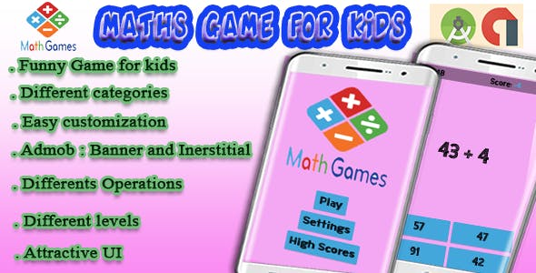 Math For Kids - Android Game with Admob