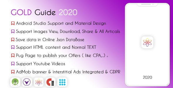 Gold Guide 2020 - High Features & AdMob
