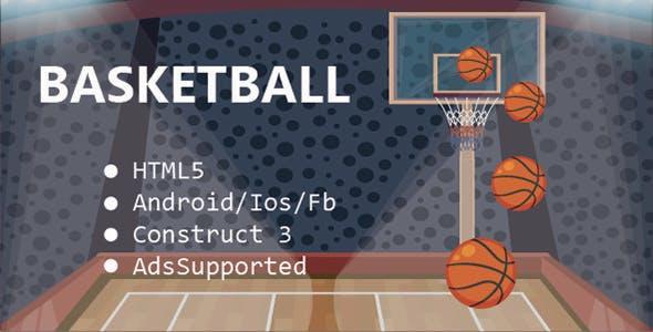 BasketBall HTML5 & Mobile Game (Construct 3)