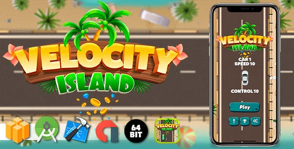 Velocity Island Android iOS Buildbox Game Template with AdMob Interstitial Ads