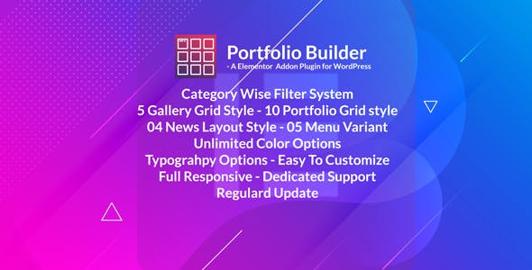 Portfolio - Grid masonry portfolio filter plugin for Elementor Page Builder