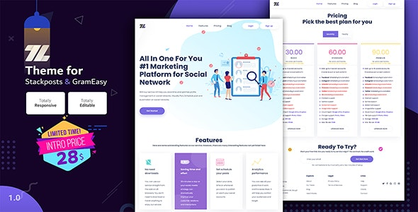 ZEZ – Theme for Stackposts and GramEasy - CodeCanyon Item for Sale