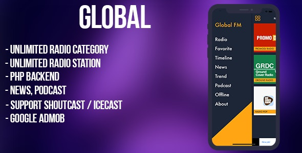 Global - radio, news, podcast + backend (android) - 1