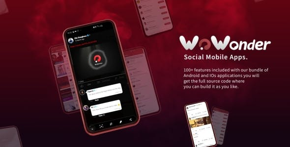 Mobile Native Social Timeline Applications - For WoWonder Social PHP Script
