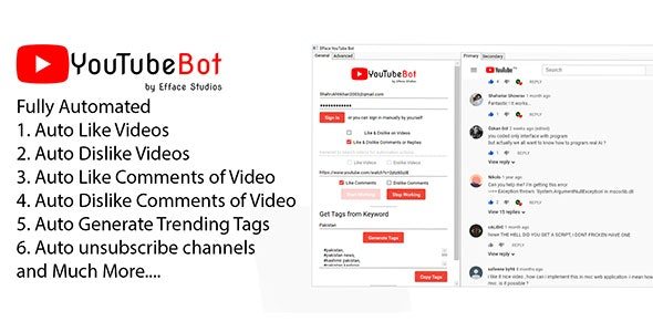 Efface YouTube Bot - Increase More Video Views - CodeCanyon Item for Sale