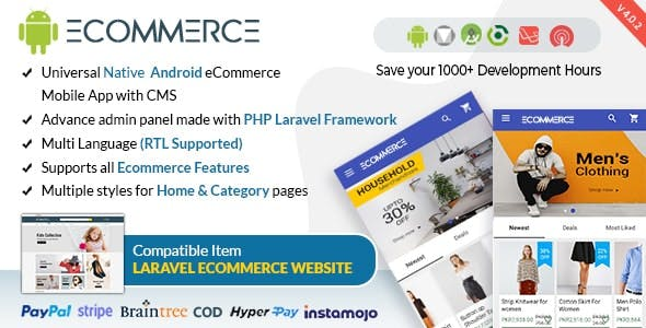 Android Ecommerce Mobile App with Laravel CMS