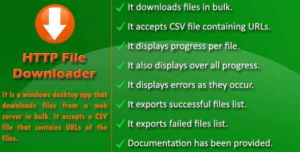 HTTP File Downloader - CodeCanyon Item for Sale