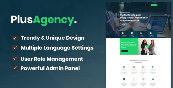 PlusAgency - Business Agency CMS & Website Management System - CodeCanyon Item for Sale