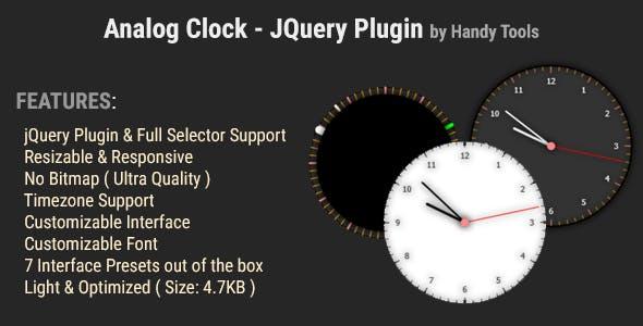 Analog Clock jQuery Plugin
