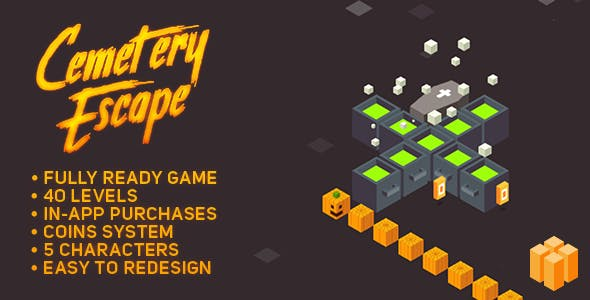 Cemetery Escape - Halloween game - BUILDBOX Template - SALE