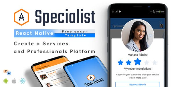 Specialist - React Native Freelancer App Template