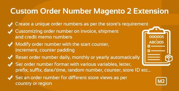 Custom Order Number Magento 2 Extension