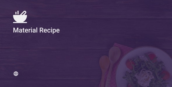 Material Recipe Web 1.0 - CodeCanyon Item for Sale
