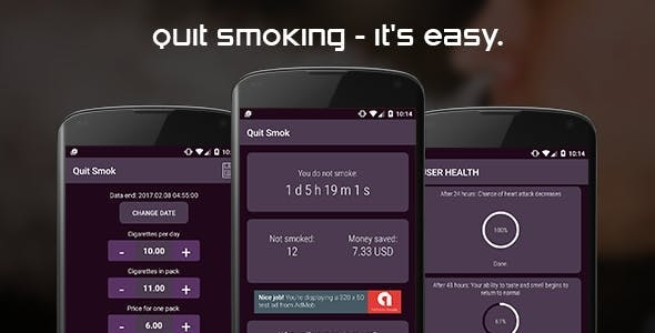 Quit smoking (android) - CodeCanyon Item for Sale