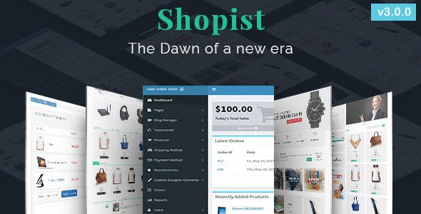 Shopist | Laravel Multivendor eCommerce, CMS and Designer