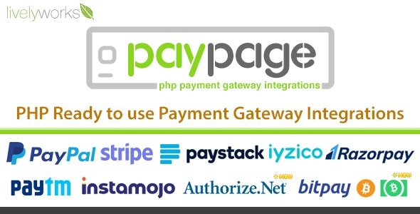 PayPage - PHP ready to use Payment Gateway Integrations - CodeCanyon Item for Sale