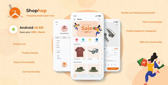 Shophop – eCommerce App UI Templates Android Kotlin