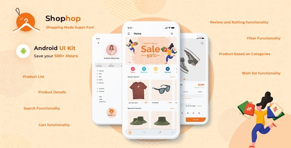 Shophop – eCommerce App UI Templates Android Kotlin - CodeCanyon Item for Sale