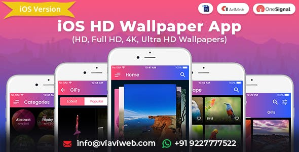 iOS Wallpapers App (HD, Full HD, 4K, Ultra HD Wallpapers)