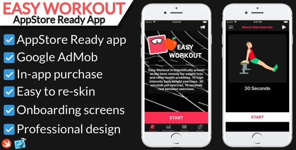 Easy Workout - iOS Fitness Application