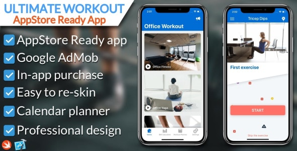Ultimate Workout iOS Application - CodeCanyon Item for Sale