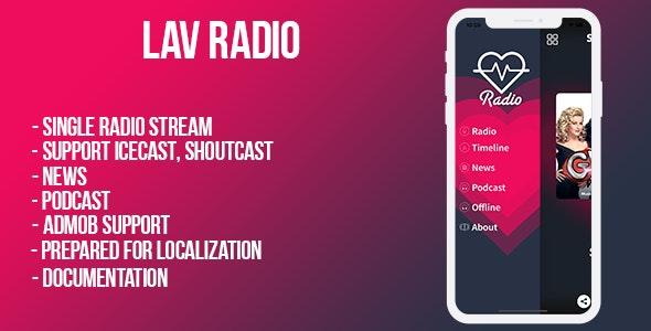 Lav Radio (single station ) iOS - CodeCanyon Item for Sale
