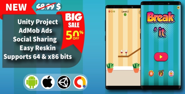 Break it - Unity Game Template + Admob - CodeCanyon Item for Sale