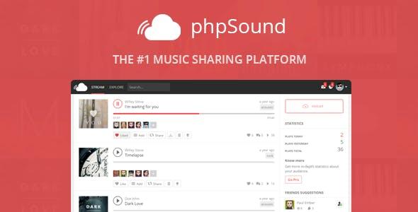 phpSound - Music Sharing Platform