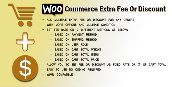 WooCommerce Extra Fee or discount - CodeCanyon Item for Sale