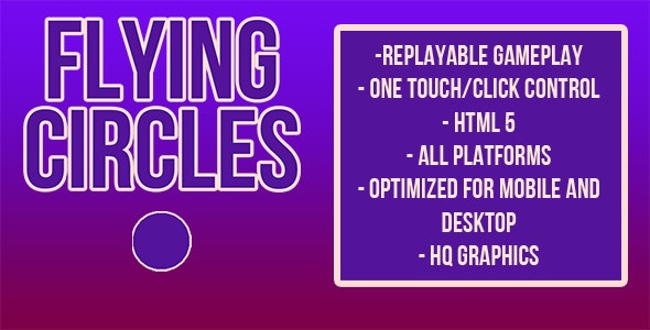 Flying Circles   HTML5 Game (capx) - CodeCanyon Item for Sale