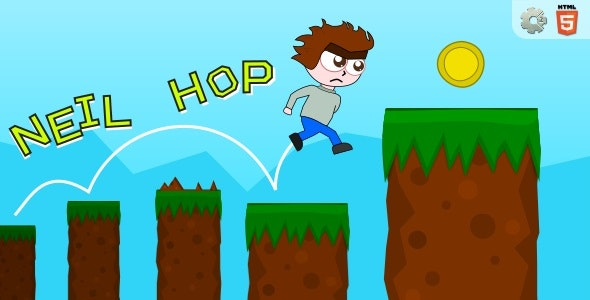 Neil Hop - HTML5 Skill Game - CodeCanyon Item for Sale
