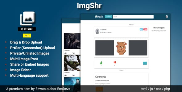 ImgShr - Easy Snapshot, Image Upload & Sharing Script