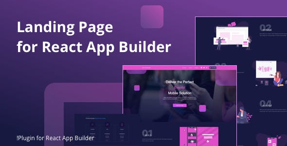 Landing Page for React App Builder.