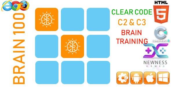 Brain 100 - HTML5 Game (capx)