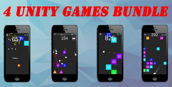 4 Unity Games Bundle + Admob