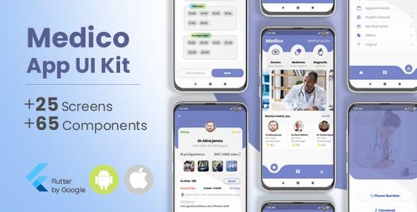 Medico Flutter App UI Kit ( Doctors, Medicines, Diagnostics )