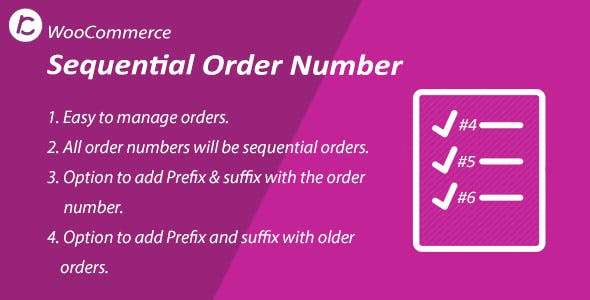 WooCommerce Sequential Order