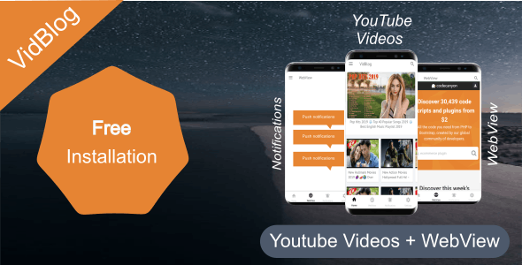 VidBlog :Youtube Videos + Webview App