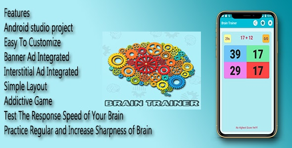 Brain Trainer - Android Quiz App - CodeCanyon Item for Sale
