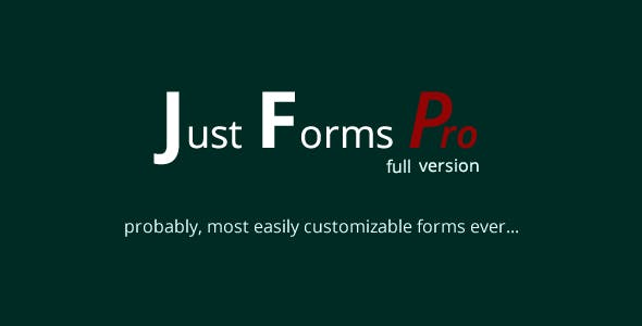 Just Forms Pro full